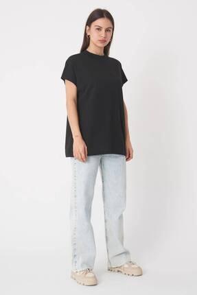Addax Kadın Siyah Basic T-Shirt P0769 - U13 Adx-0000020933 1