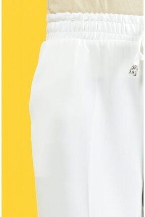 Essah Moda Kadın Beyaz Lastikli Havuç Pantolon - Me000274 3