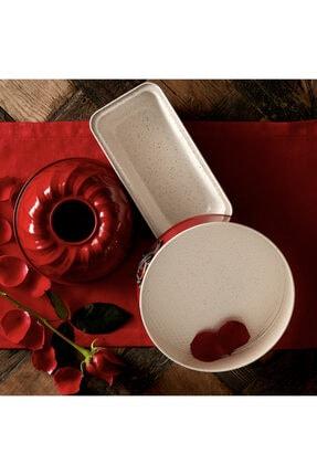 Karaca Retro Kırmızı Kek Seti 0