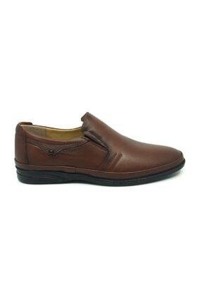 Taşpınar Erkek Kahverengi  Deri Ortopedik Günlük Yazlık Klasik Ayakkabı 40-44 1