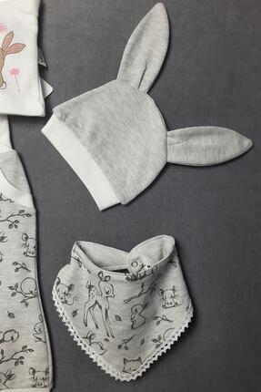 Flexi 5 Parça Önlüklü Tavşanlı Zıbın Seti 1