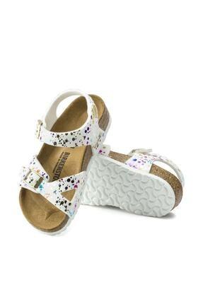 Birkenstock Unisex Çocuk Beyaz Konfeti Sandalet 1015987 1