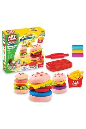 DEDE Oyun Hamuru Hamburger Seti 0