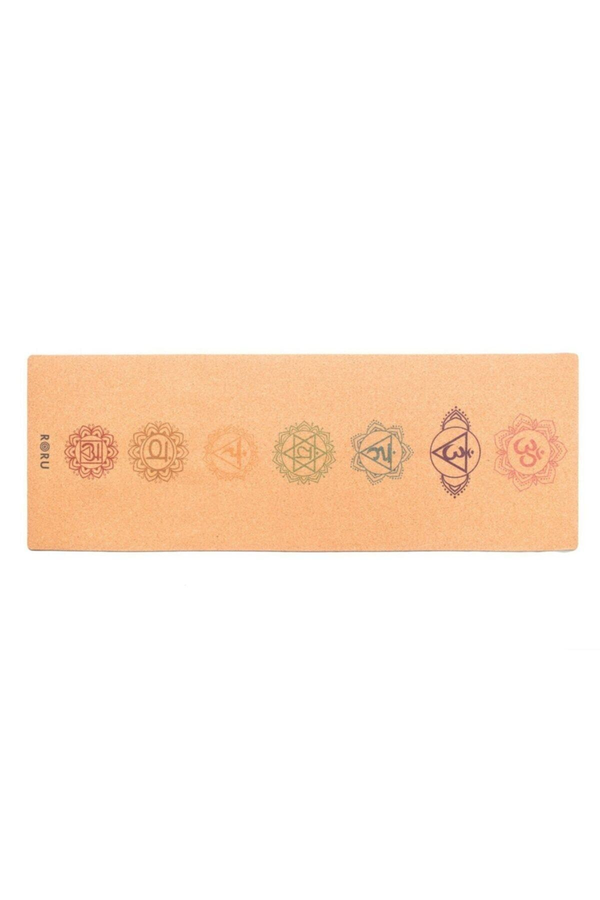 Roru Concept Çakra Desenli Mantar Yoga Matı
