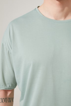 TRENDYOL MAN Mint Basic Erkek Bisiklet Yaka Oversize Kısa Kollu T-Shirt TMNSS21TS0811 2
