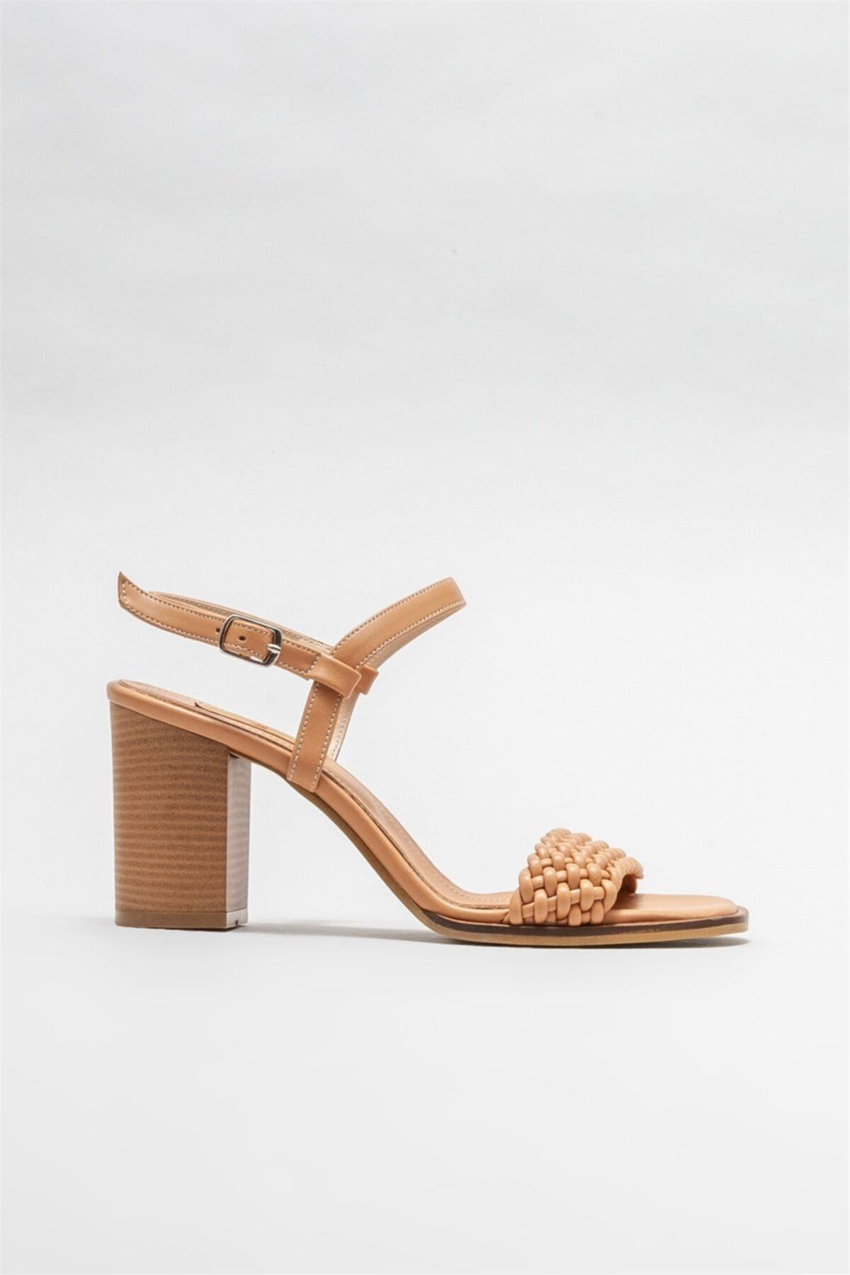 Kadın Camel Topuklu Sandalet
