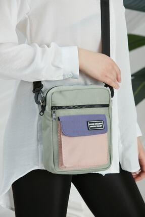 CuCu Bag's Unisex Yeşil Üç Gözlü Cross Bag Çanta Cc2113-1 1