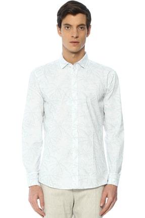 Network Erkek Beyaz Baskılı Gömlek 2400404824178 0