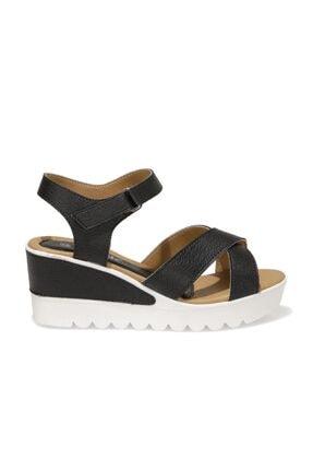 Polaris 91.308569.Z 1FX Siyah Kadın Dolgu Topuklu Sandalet 101016737 1