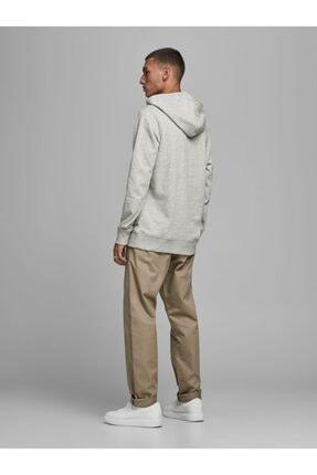 Jack & Jones JJ30JACK PRINT SWEAT HOOD Gri Erkek Sweatshirt 101057584 2