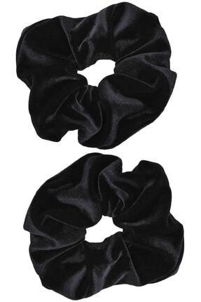 İnci Accessories Trendyıldızı 2 ' Li Kadife Siyah Lastik Toka 0
