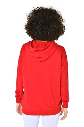 bilcee Kırmızı Kadın Kapüşonlu Sweatshırt GW-8785 3