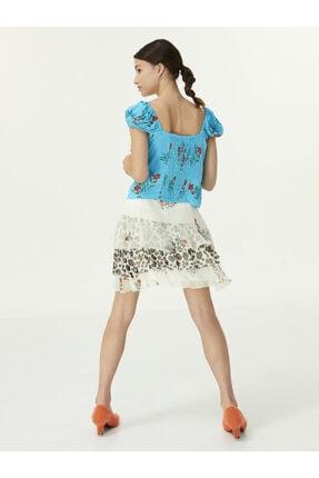 Twist Çiçek Desen Bluz 2