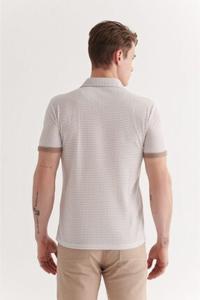 Avva Erkek Vizon Polo Yaka Double Kol Baskılı T-shirt A11y1137 4