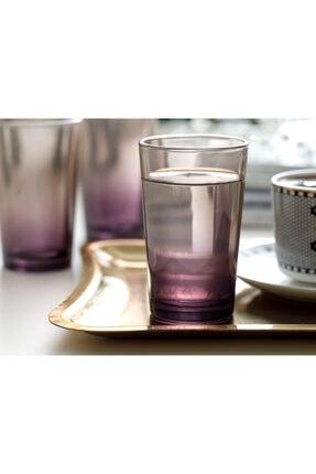 English Home Degetto Cam 6'lı Kahve Yanı Su Bardağı 100 Ml Koyu Mor 1