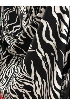 Siyah-Beyaz Zebra Desen Kumaş Zebra Desenli  Kumaşı