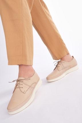 Marjin Kadın Bej Hakiki Deri Comfort Ayakkabı Porvez 3