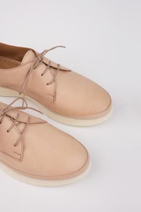 Marjin Kadın Bej Hakiki Deri Comfort Ayakkabı Porvez 4