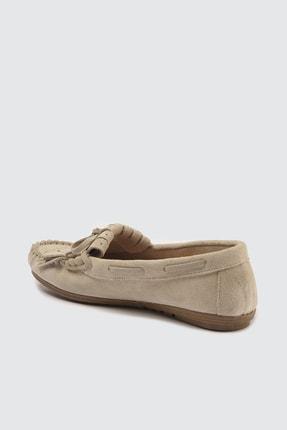TRENDYOLMİLLA Bej Hakiki Deri Püsküllü Kadın Loafer Ayakkabı TAKSS21LA0001 3