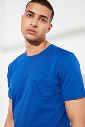 TRENDYOL MAN Saks Erkek Slim Fit Bisiklet Yaka T-Shirt TMNSS21TS0443 2