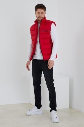 Enuygunenmoda Erkek Slim Fit Şişme Yelek Kırmızı 3