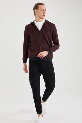 Defacto Erkek Kapüşonlu Fermuarlı Sweatshirt 1