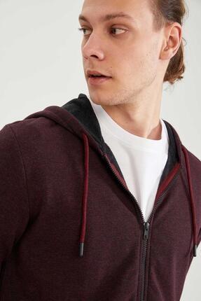 Defacto Erkek Kapüşonlu Fermuarlı Sweatshirt 2