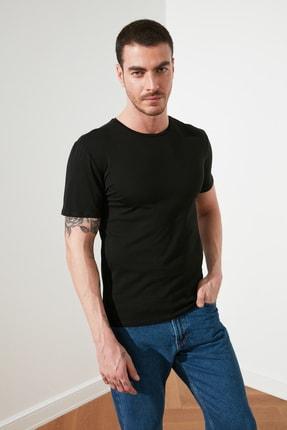 TRENDYOL MAN Çok Renkli Erkek 2'li Basic Paket Slim Fit T-Shirt TMNSS19BO0075 3