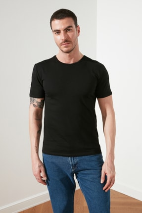 TRENDYOL MAN Çok Renkli Erkek 2'li Basic Paket Slim Fit T-Shirt TMNSS19BO0075 1