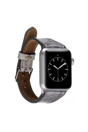 Barchello Apple Watch Deri Kordon 38-42-44mm Croco Yk03 Gri 1