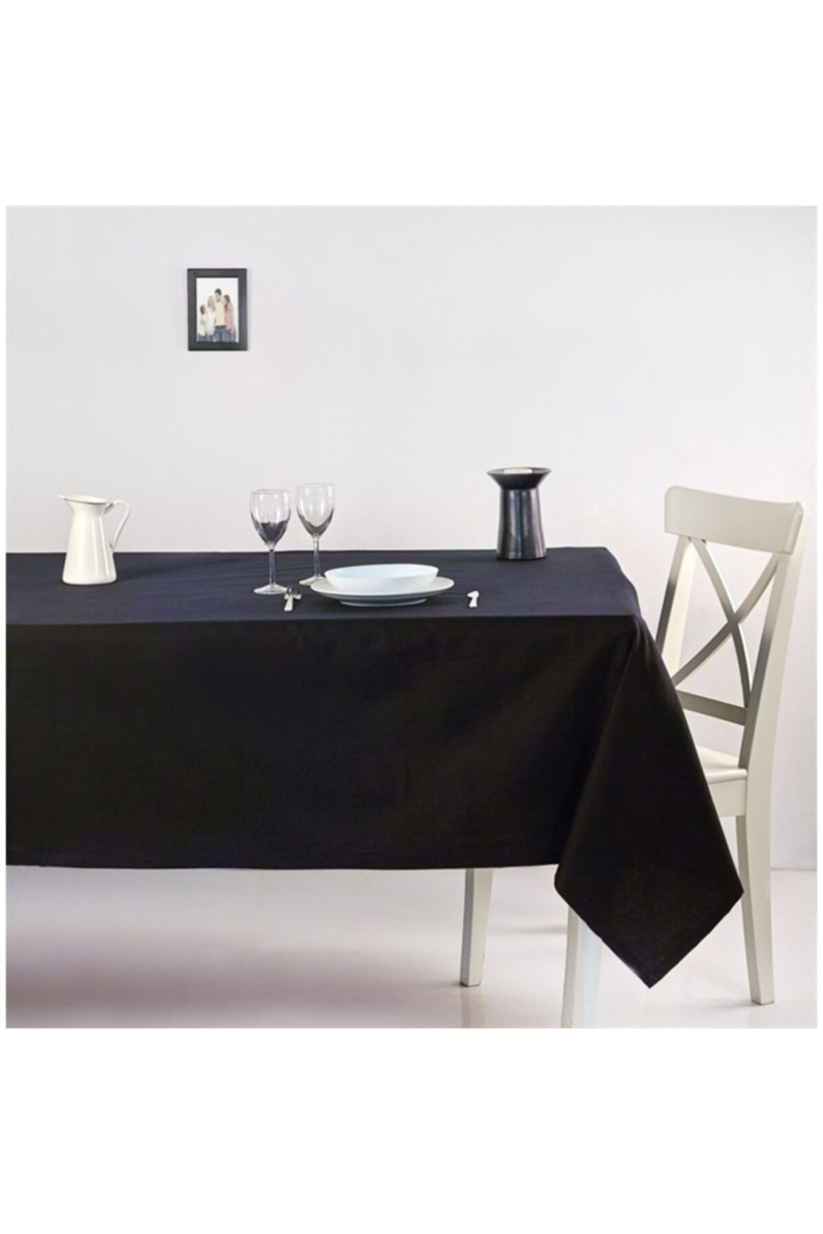 Masa Örtüsü Siyah Seçenekli Ilan Leke Tutmaz Duck Keten Kumaş