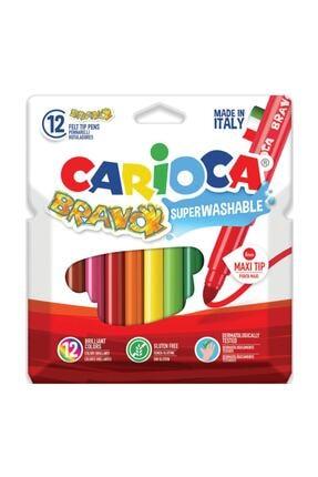 Carioca Bravo Süper Yıkanabilir Keçeli Kalem 12'li 0