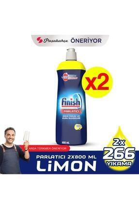 Finish Bulaşık Makinesi Parlatıcı Limonlu 800 ml X 2 Adet 0