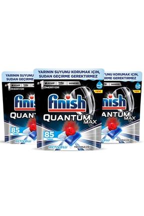 Finish Quantum Max 255 Kapsül Bulaşık Makinesi Deterjanı (85x3) 1