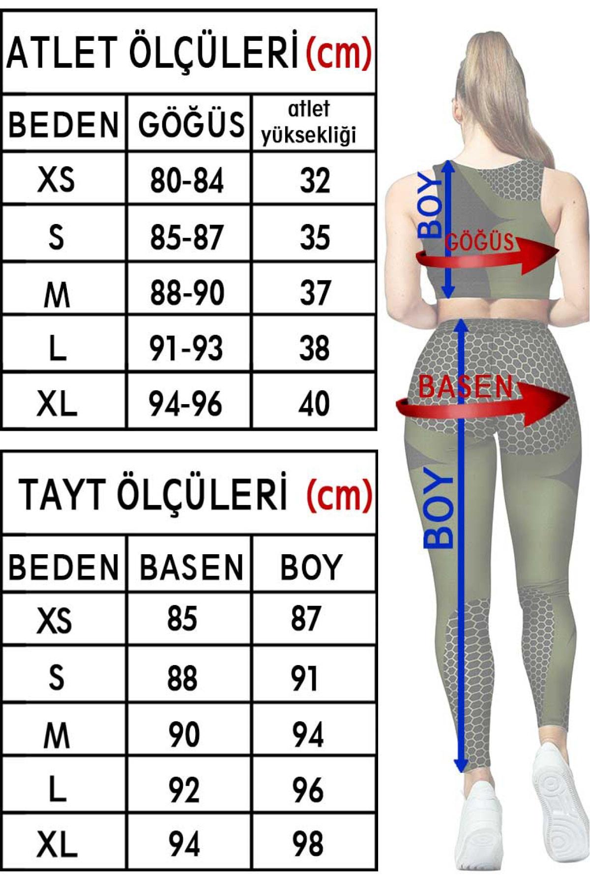 Clove Kadın Tayt Atlet Takım Günlük Bayan Spor Tayt