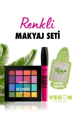 NYX Professional Makeup Vegan Renkli Makyaj Seti & Çanta Hediyeli 0