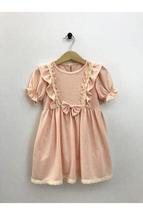 Cherrys Bebek Kız Çocuk Somon Küçük Puanlı  Elbise 0