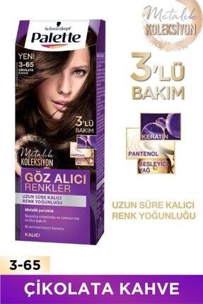 Palette Göz Alıcı Renkler Çikolata Kahve 3-65 Saç Boyası 0