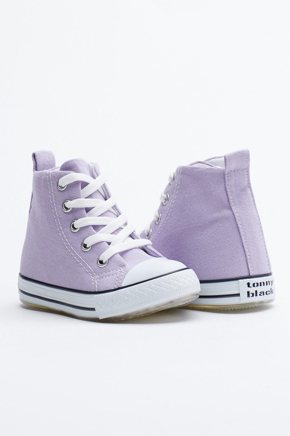 Tonny Black Lila Çocuk Spor Ayakkabı Uzun Tb999 1