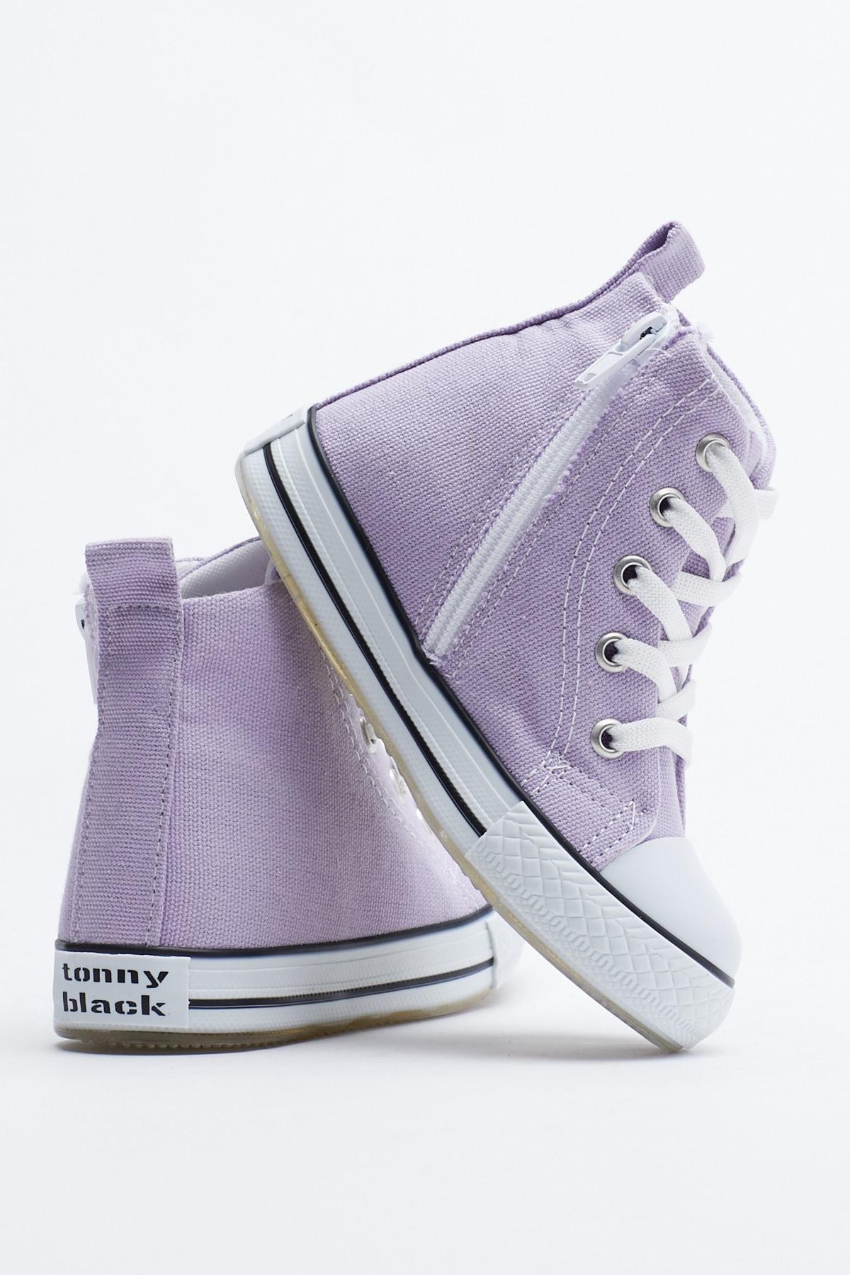 Tonny Black Lila Çocuk Spor Ayakkabı Uzun Tb999 3