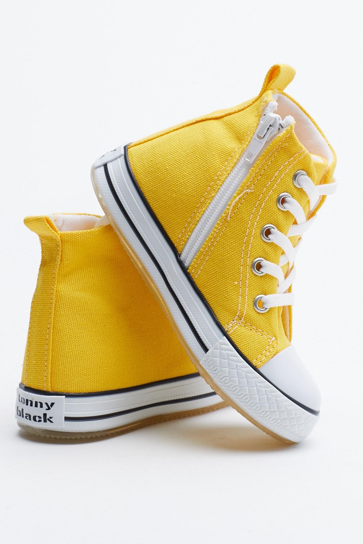 Tonny Black Sarı Çocuk Spor Ayakkabı Uzun Tb999 2