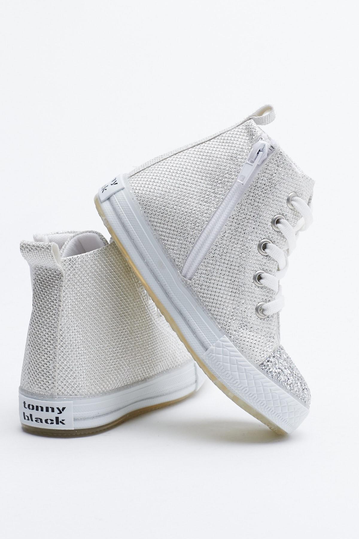 Tonny Black Buz Çocuk Spor Ayakkabı Uzun Tb999 3