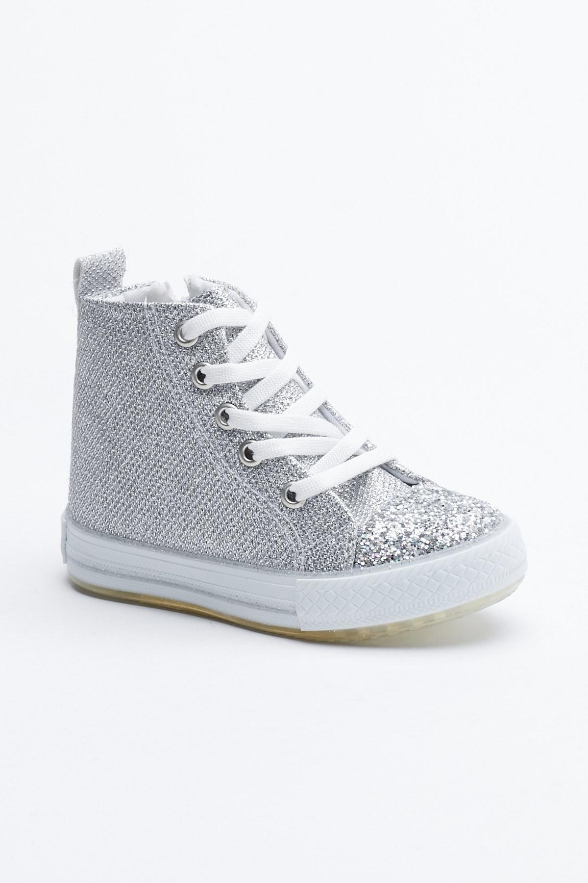 Tonny Black Gümüş Çocuk Spor Ayakkabı Uzun Tb999 0