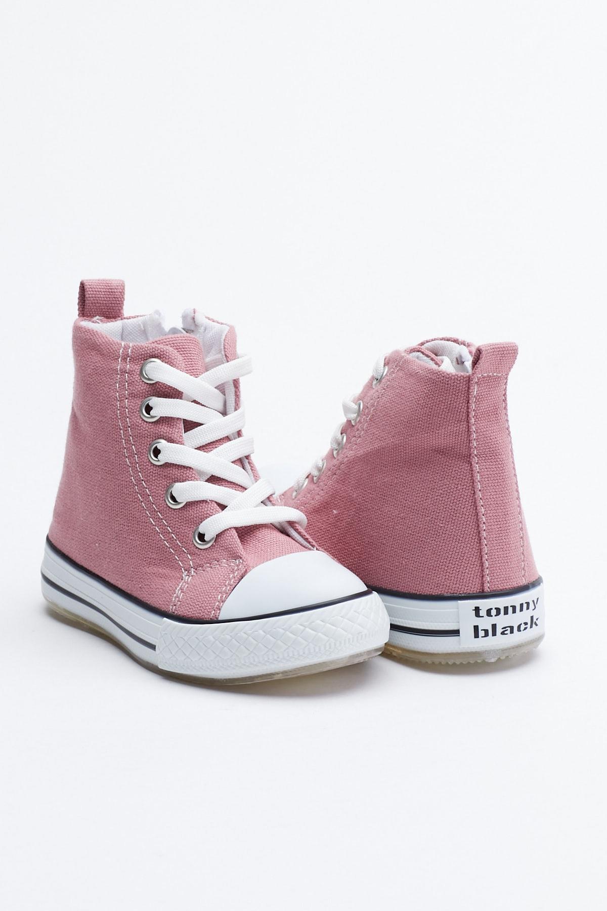 Tonny Black Mor Çocuk Spor Ayakkabı Uzun Tb999 1