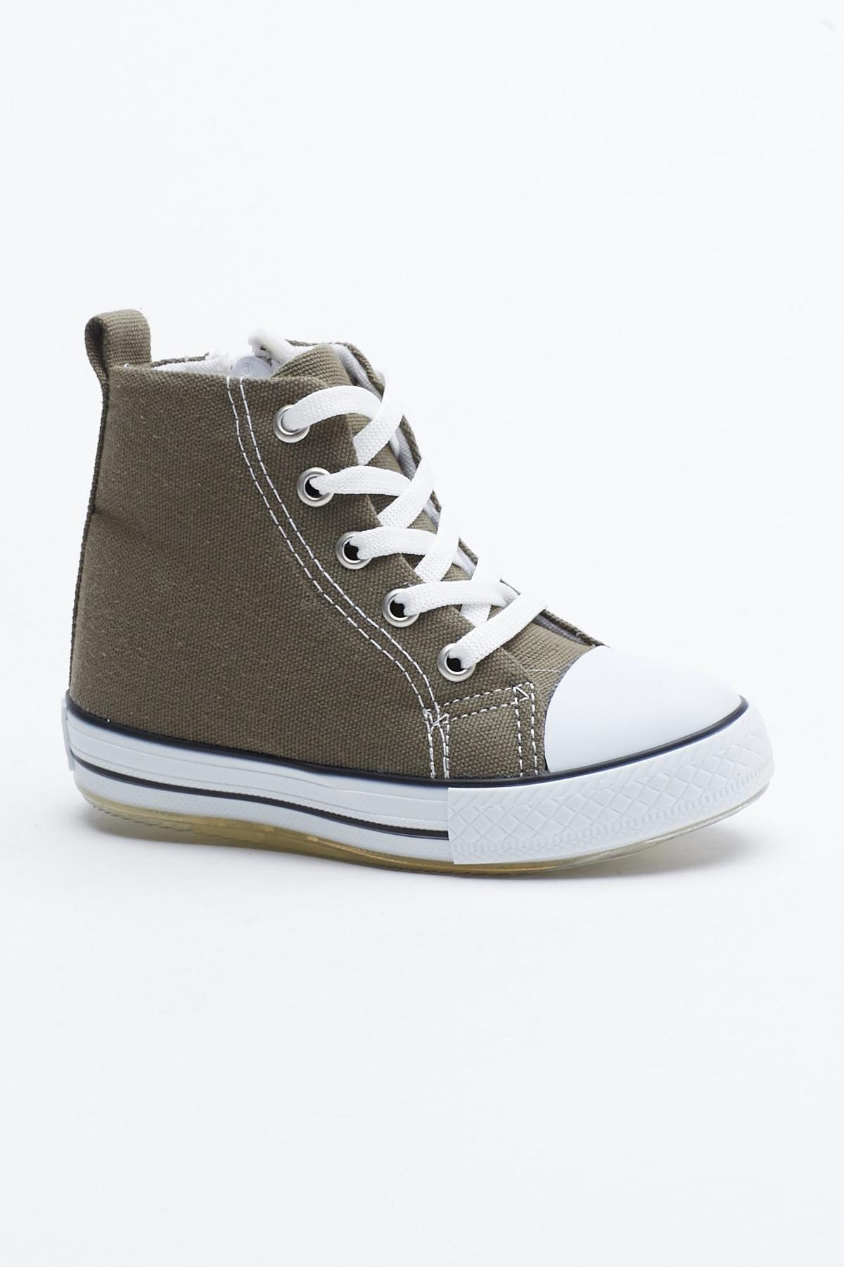 Tonny Black Haki Çocuk Spor Ayakkabı Uzun Tb999 0
