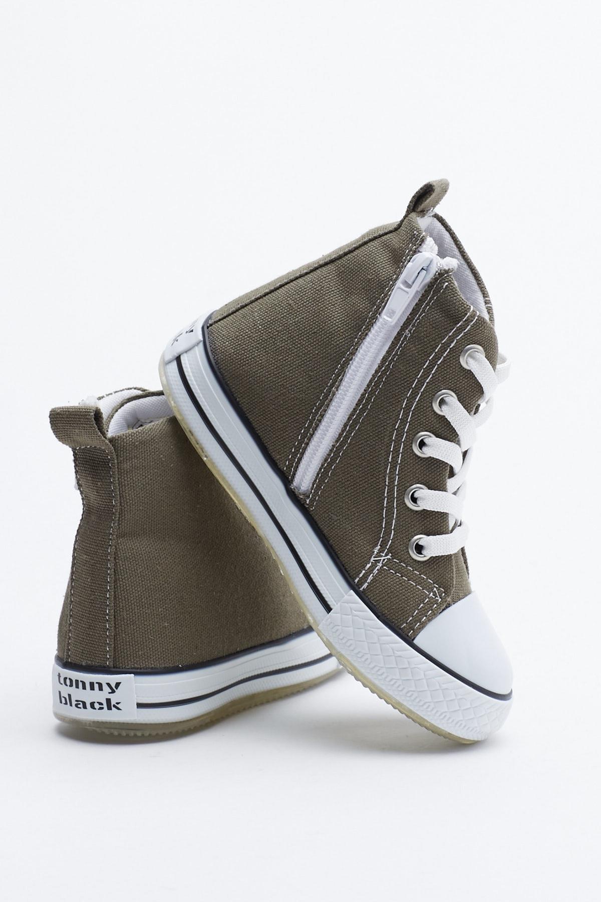 Tonny Black Haki Çocuk Spor Ayakkabı Uzun Tb999 3