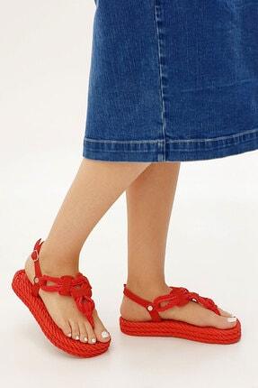 Marjin Casmina Kadın Parmak Arası Sandaletkırmızı 1