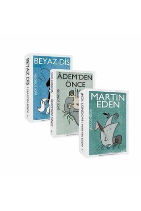 İndigo Kitap Jack London Seti Beyaz Diş Martin Eden Ademden Önce 3 Kitap Set 0