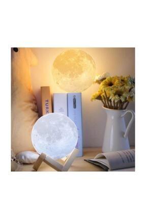 Zzn 3d Ay Işığı Gece Lambası Dokunmatik Moon Led Masa Üstü Aydınlatma 3