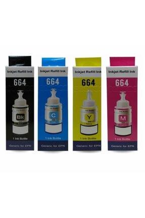 Epson T664 L382,l386,l3050,l3060,l3070,l565 4 Renk Mürekkep Seti 1